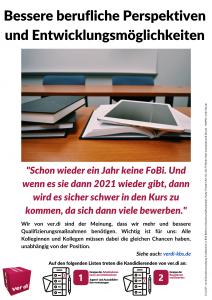 Flugblatt: ver.di fordert bessere berufliche Perspektiven und Entwicklungsmöglichkeiten (2020-04-28)