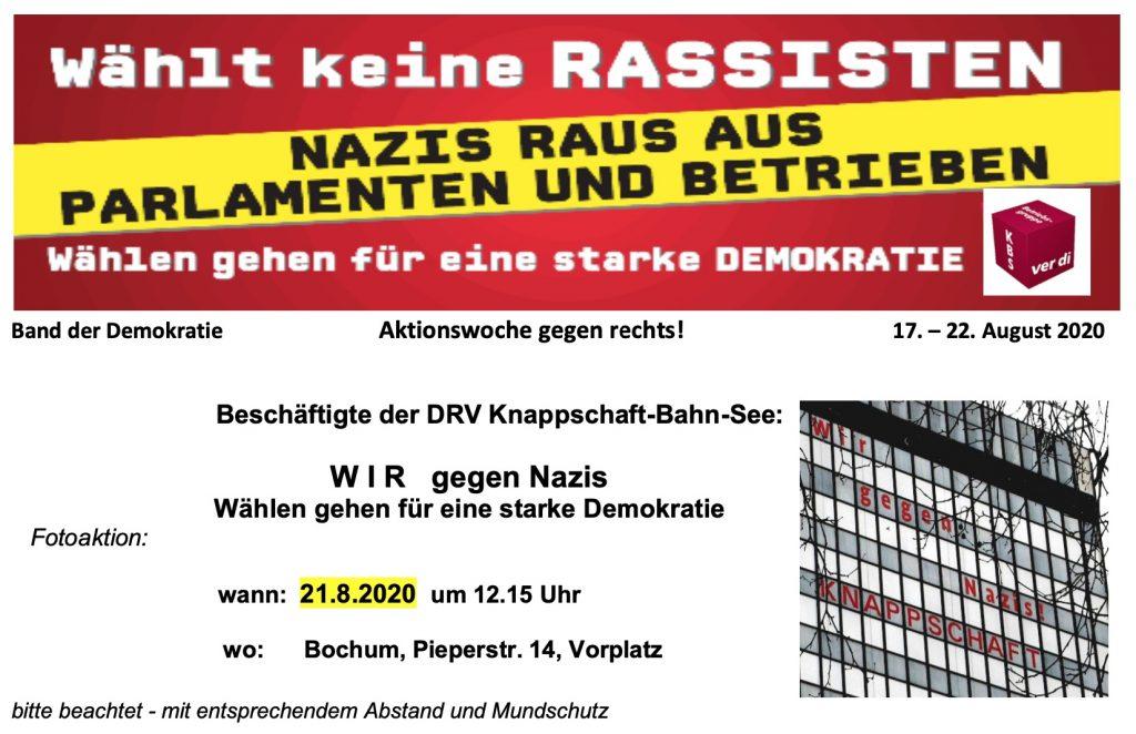 Wählt keine Rassisten! Nazis raus aus Parlamenten und Betrieben!