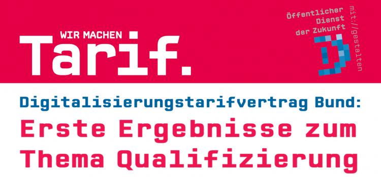 ver.di Tarifinfo: Digitalisierungstarifvertrag Bund - Erste Ergebnisse zum Thema Qualifizierung (20.08.2020)