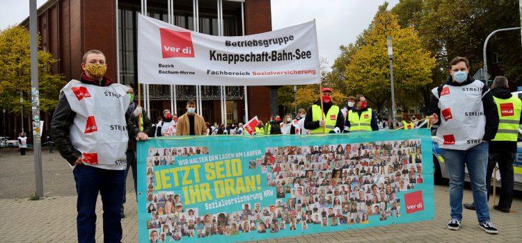 ver.di KBS im Streik (14.10.2020): am Sammlungspunkt Schauspielhaus