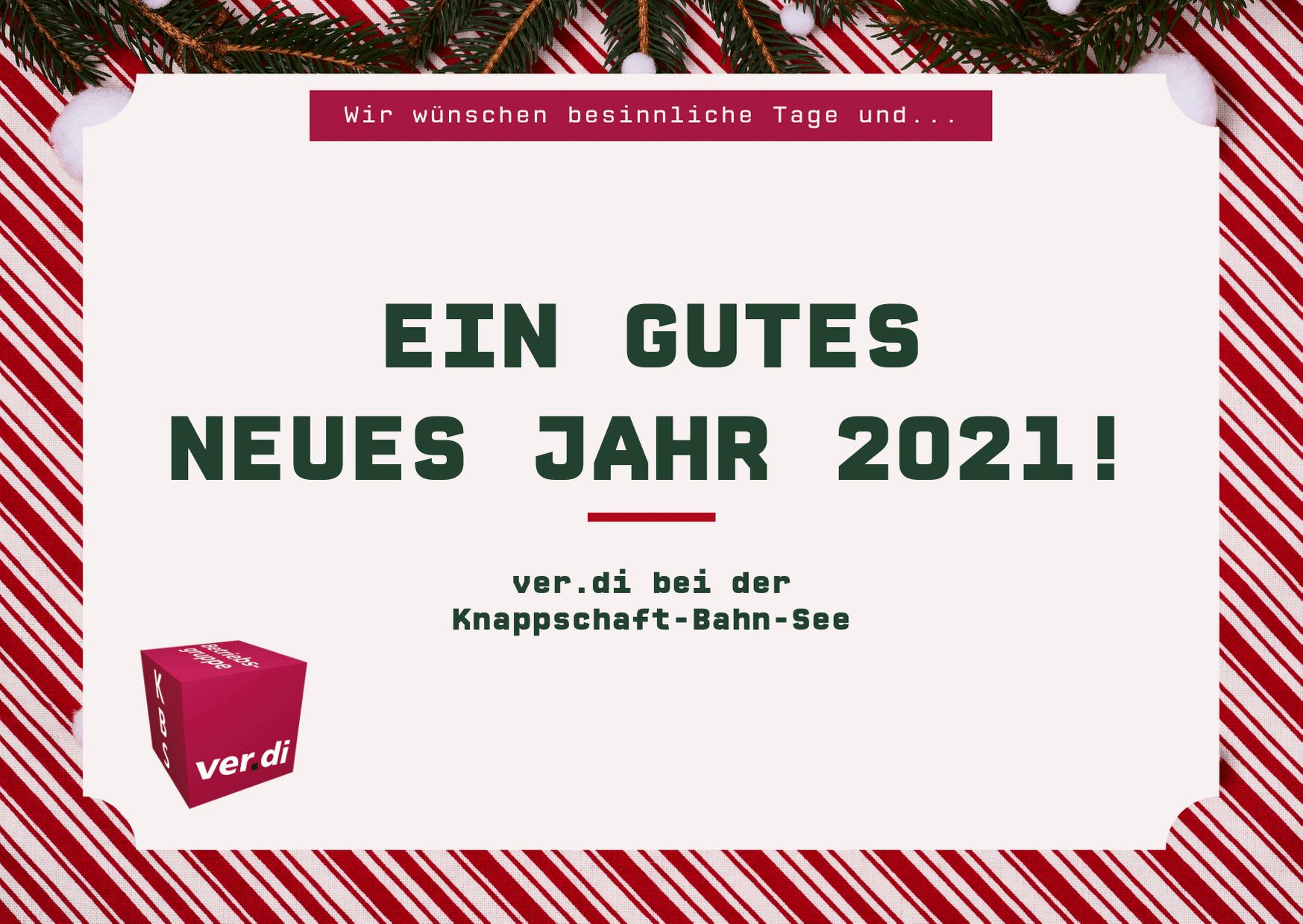 Wir wünschen besinnliche Tage und ein gutes neues Jahr 2021!