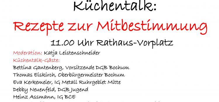 DGB-Plakat zum 1. Mai 2021 in Bochum